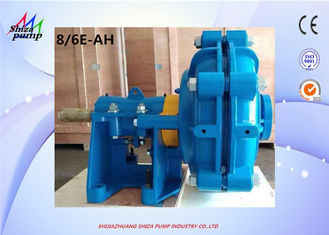 China 8 / 6 E - AH Slurry Pump , High Head High Chromium Alloy Centrifugal Slurry Pump supplier