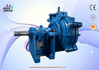 China 6 Inch Heavy Duty Horizontal Centrifugal Slurry Pump By Metal Replaceable Line supplier